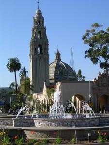 California Tower & fountain