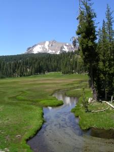 Lassen Peak above Kings Creek