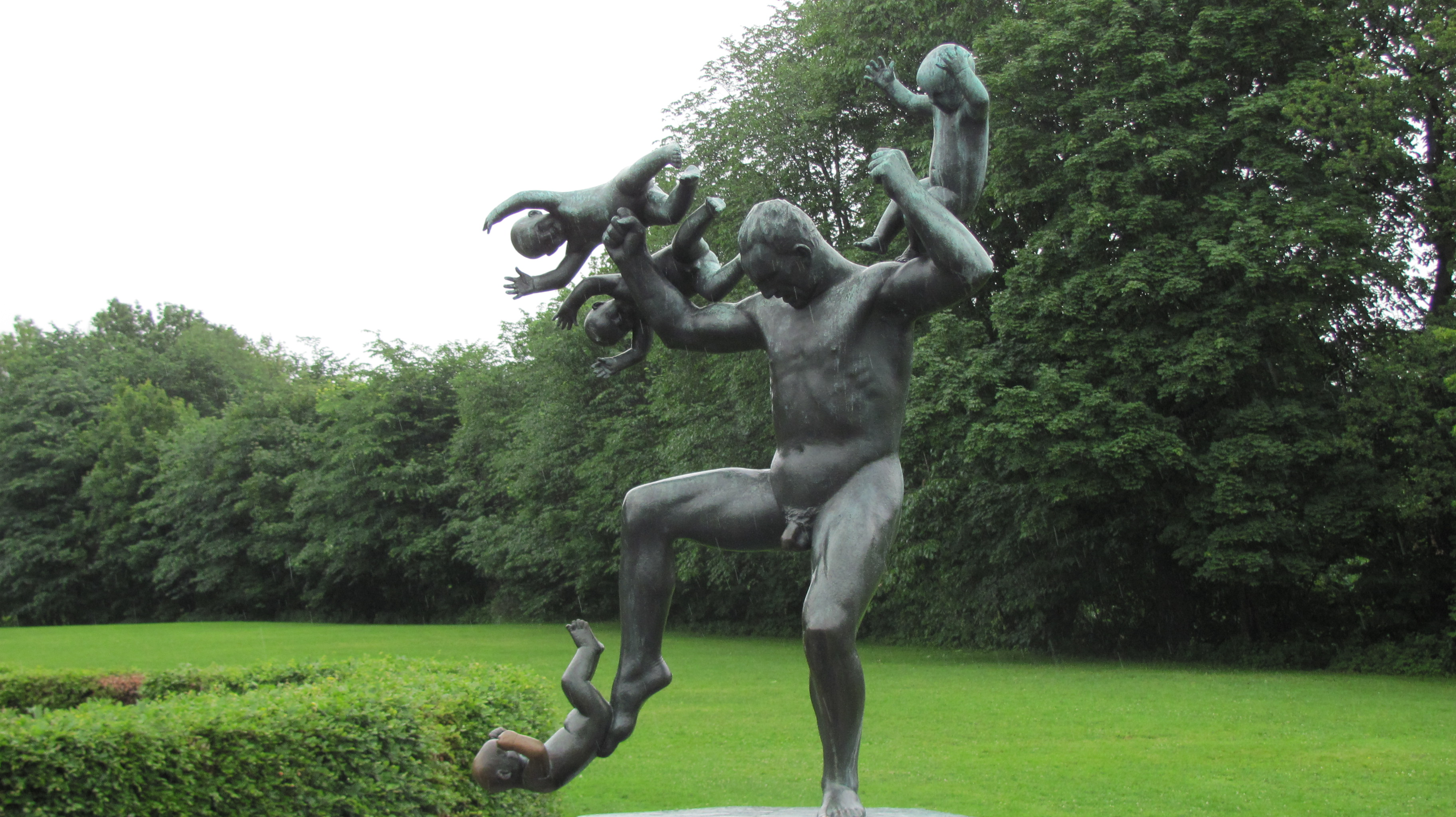 Man Juggling Babies