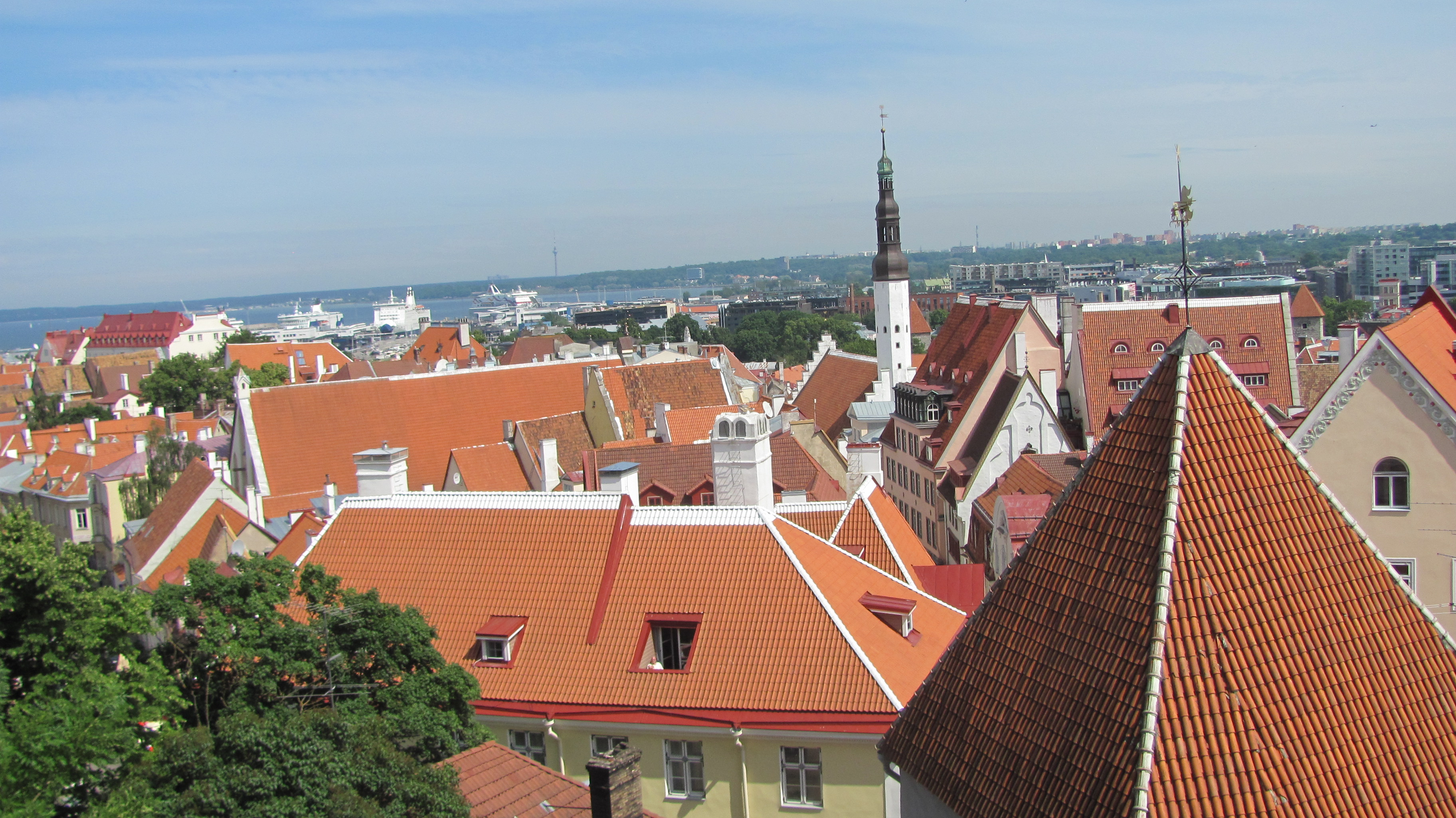 View of Tallinn from Toompea