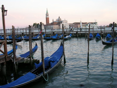 Gondolas on Venice's Lagoon
