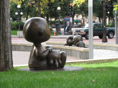 Charlie Brown in Rice Park