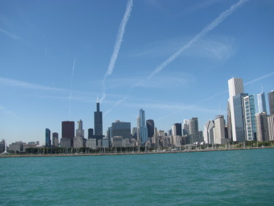 View of Chicago from the water