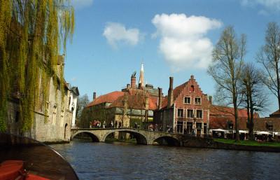 Brugge Canal Scene