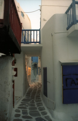Alleyway on Mykonos