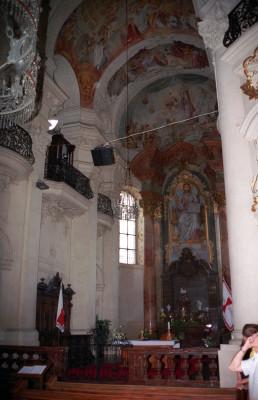 Inside Ettal Monastery