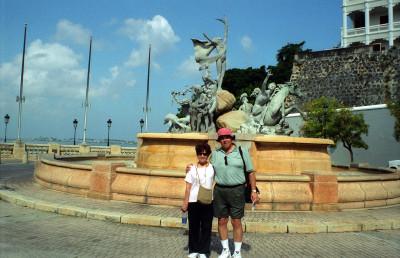 At Las Raices Fountain