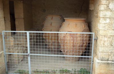 Olive Oil Barrels at Knossos