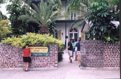 Lee at Hemingway House