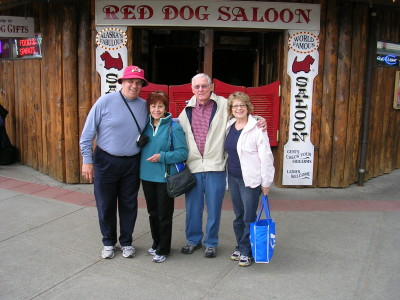 At the Red Dog Saloon