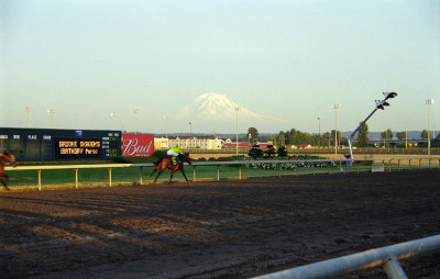 Looming over Emerald Downs
