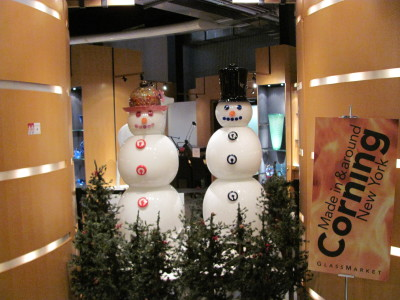 Glass Snowmen