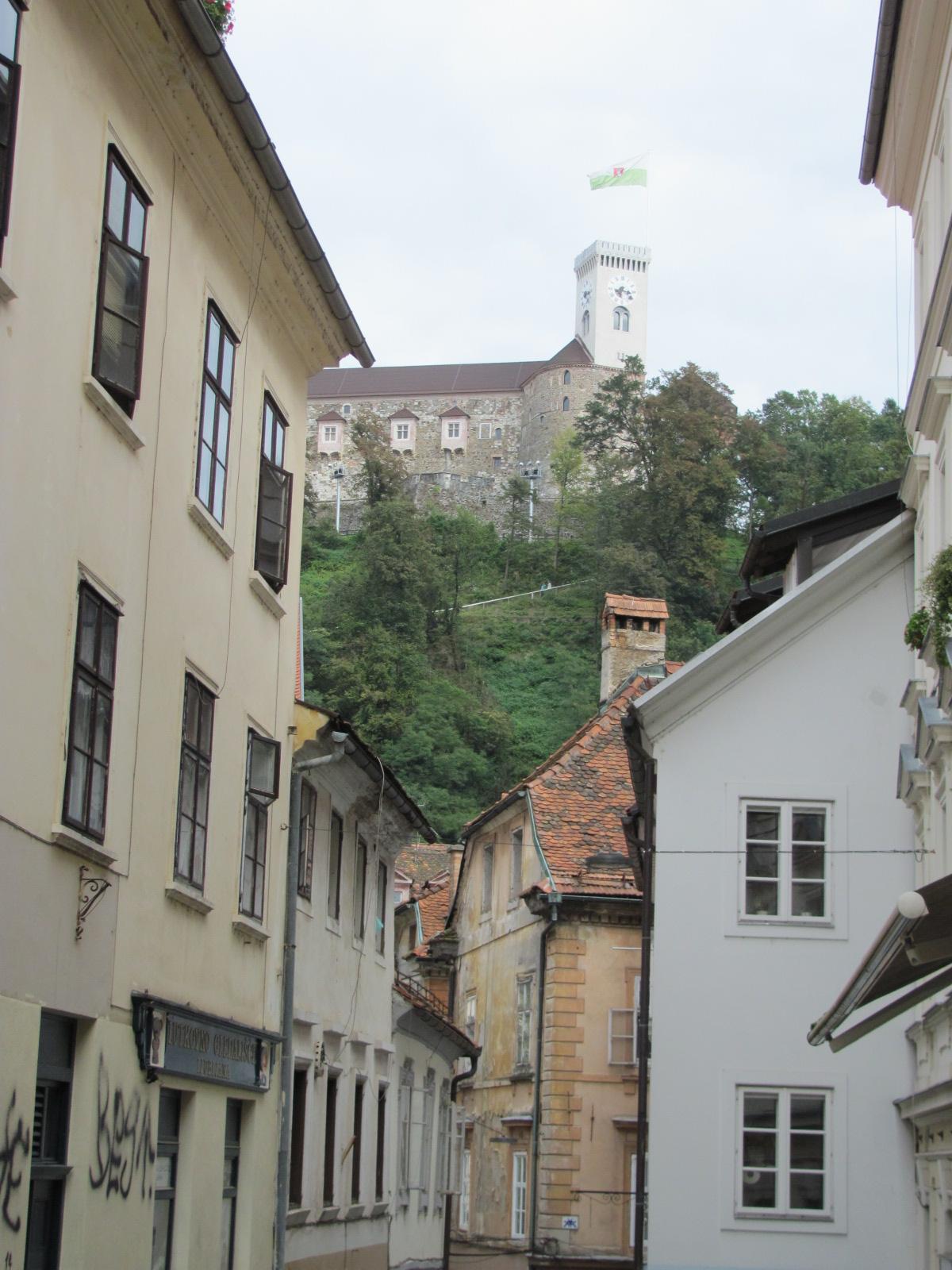 Ljubljana Castle above the Old Town