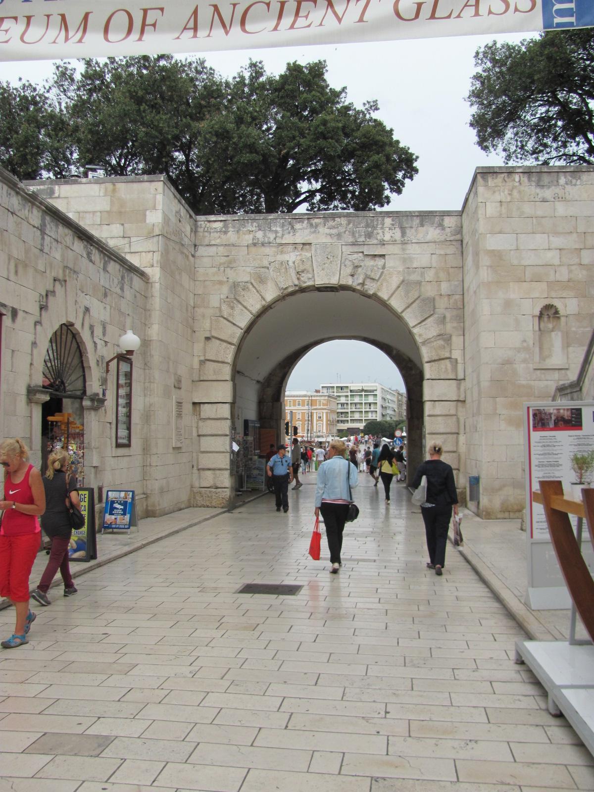 Zadar Street and Walls