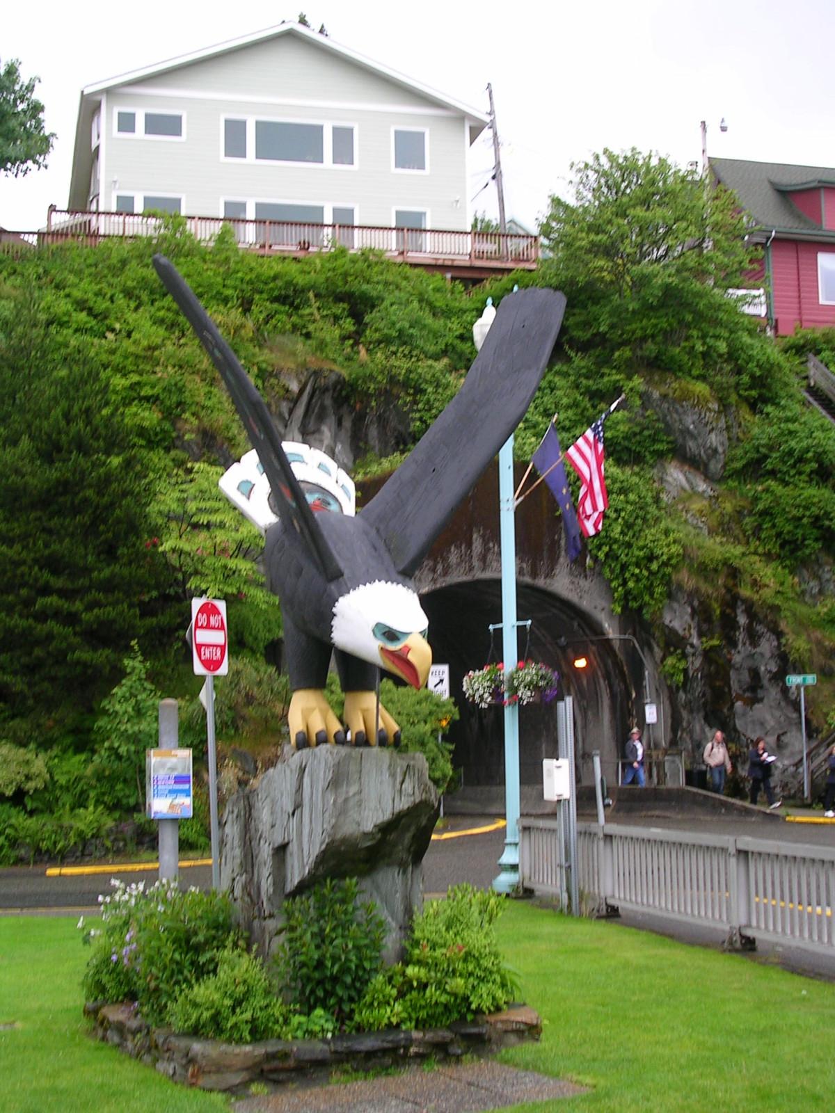 Bald Eagle at Entrance to Ketchikan