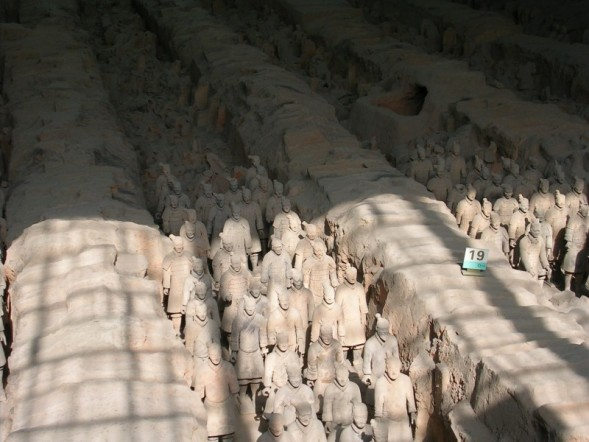 Rows of Terra Cotta warriors
