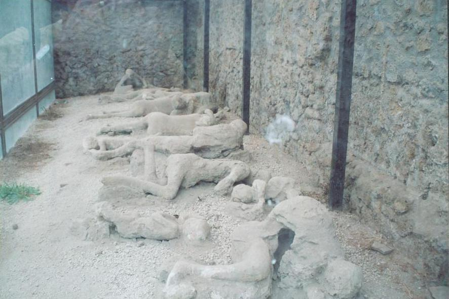Casts of Pompeii People